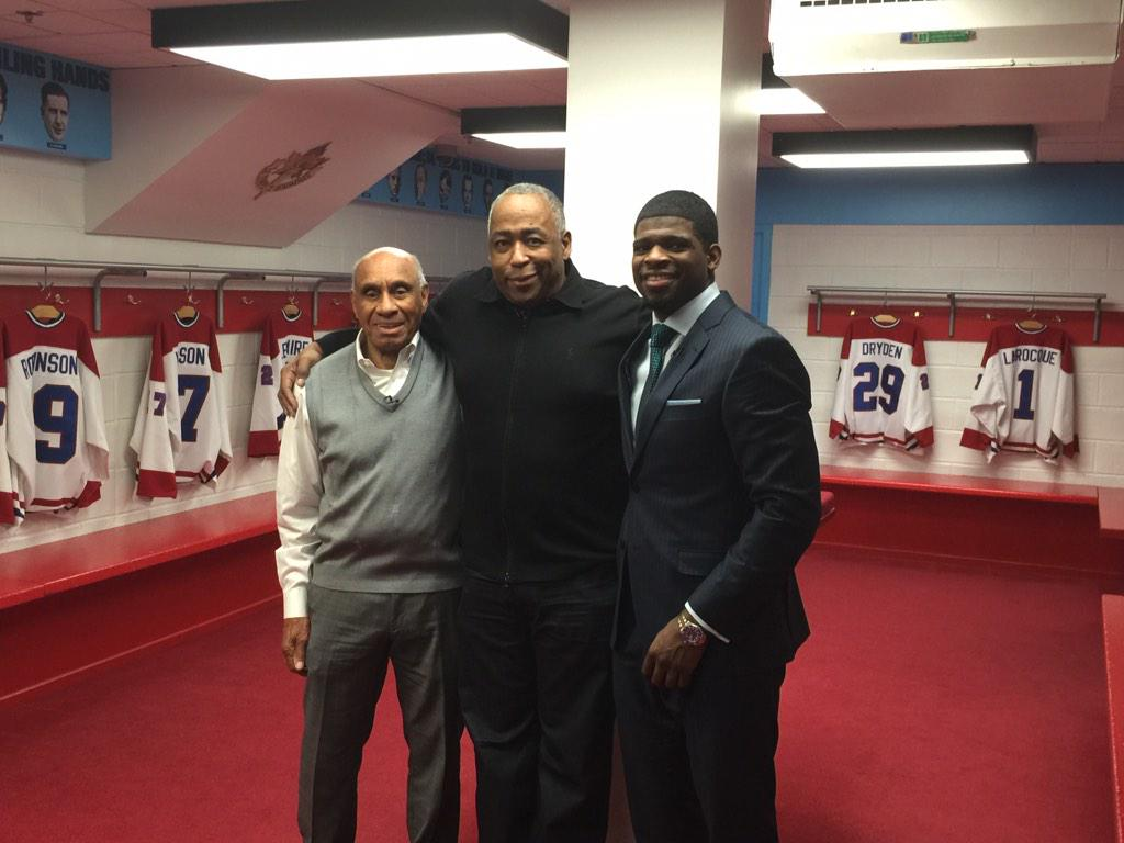 With My Hero Willie O'Ree and NHL Star @PKSubban1 Black History Month Special Legends&todays stars Show airs Feb. 22 http://t.co/IrIEdpUd2U