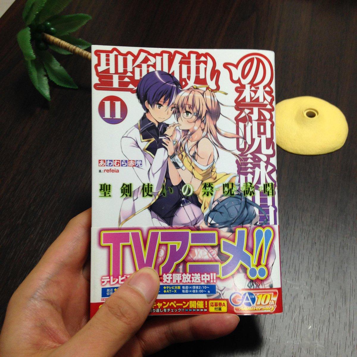 聖剣使いの禁呪詠唱11は今月発売です。よろしくね≡⊂ミ⌒⊃ミ'ω'彡⊃
