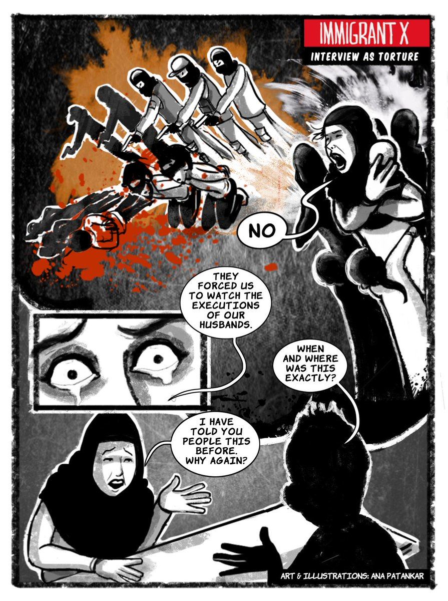 New Graphic Story by Immigrant X; Interview as Torture, Frame 2. Art and Illustrations by @Anaillustrates http://t.co/eiNMEyA7ks