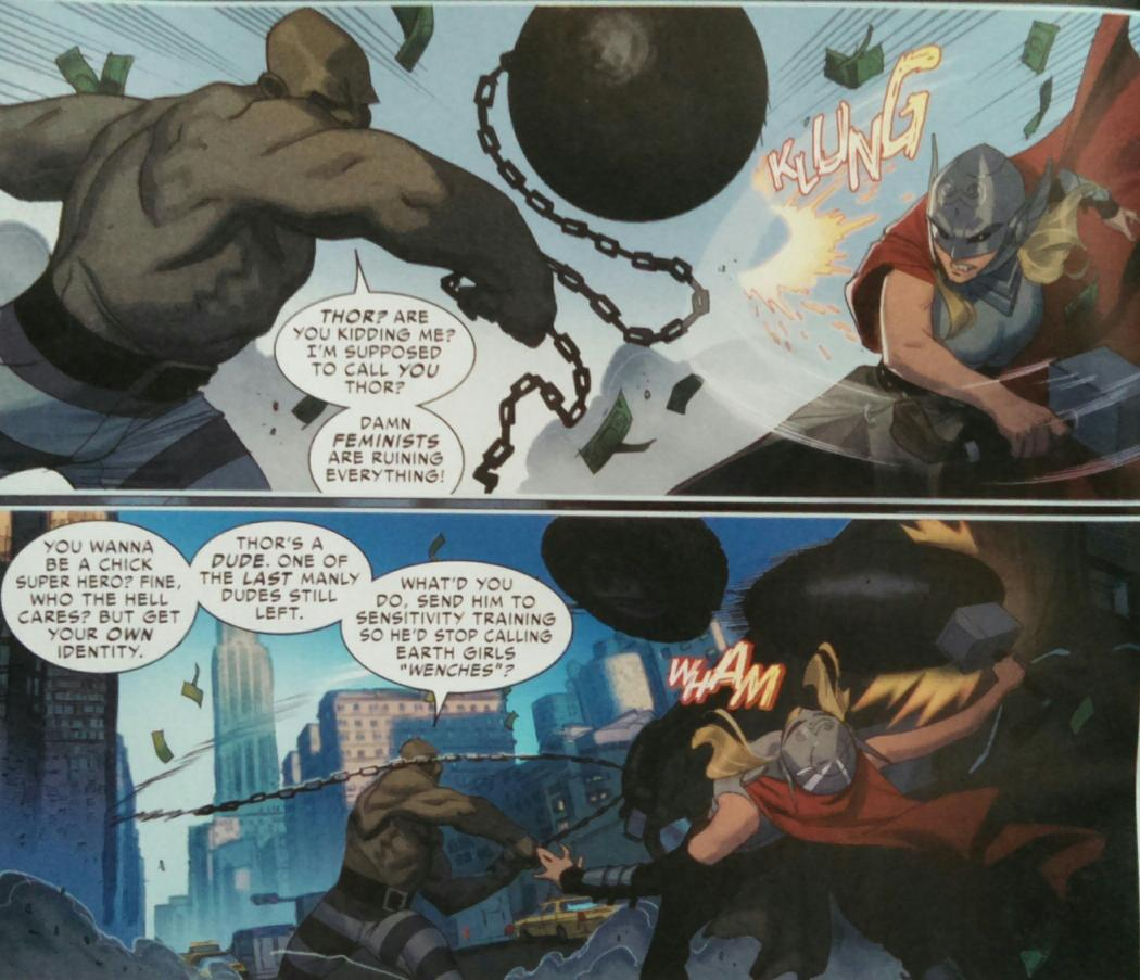 The Absorbing Man speaks for certain disgruntled fans in today's Thor #5 — wonderful job, @jasonaaron & Jorge Molina. http://t.co/TWFjHBhqBZ