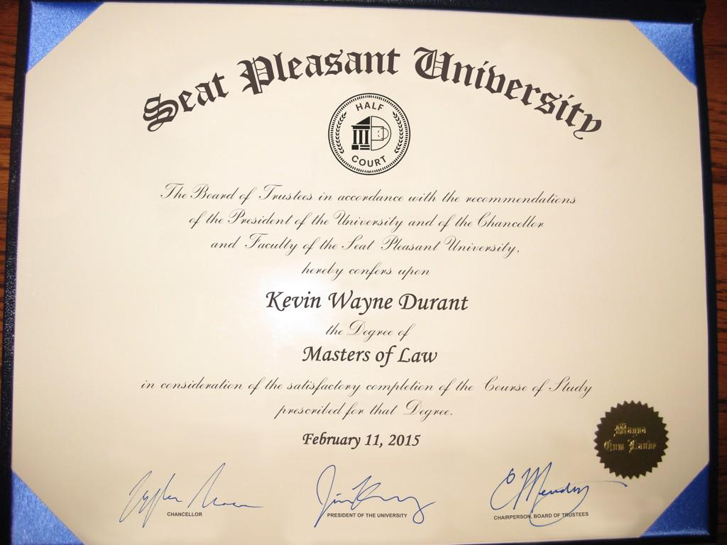Kevin Durant (@KDTrey5): Told y'all I wasn't playing - it's #KDLaw from here on out http://t.co/oZJE3G79K8