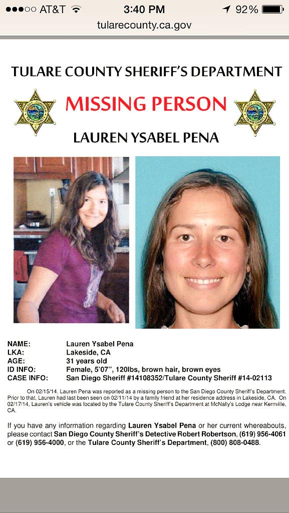 Ok, here's the sheriff's poster for my missing cousin. Thank you all!! http://t.co/Bpc3Nygr4z