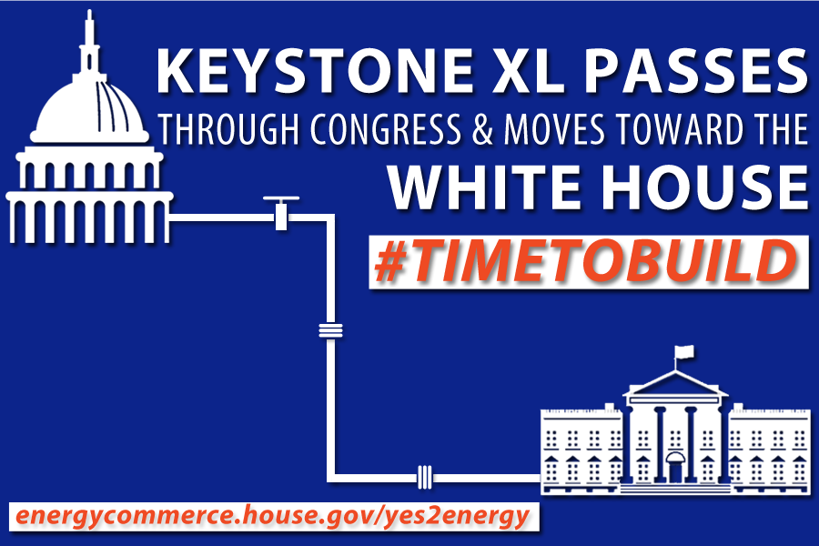 S.1, The #KeystoneXL Pipeline Approval Act passes w/ a vote of 270 to 152 & now moves to the @WhiteHouse http://t.co/I3dJGfYnBs