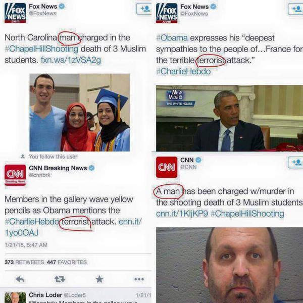#ChapelHillShooting humor yg g lucu media kafir dan liberal http://t.co/ZeYdj01bdk