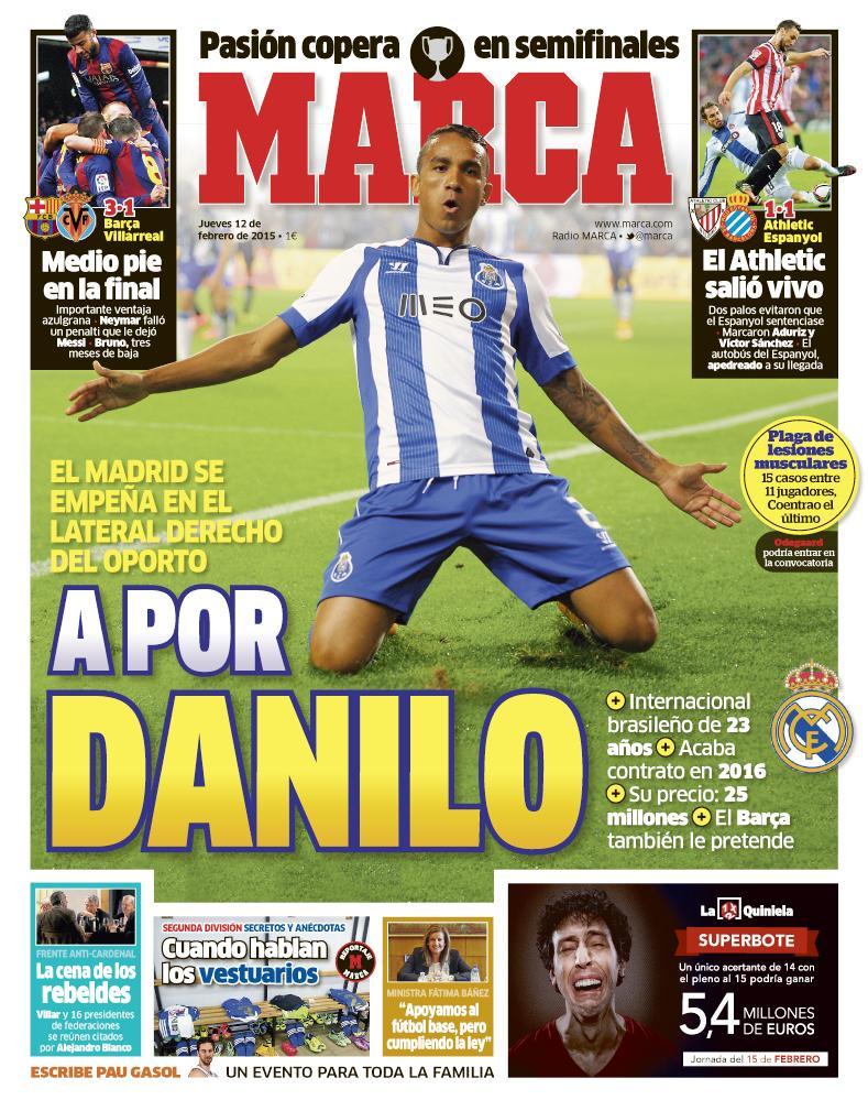 RT @marca: 'A por Danilo' #LaPortada http://t.co/WFK5FfsVT3