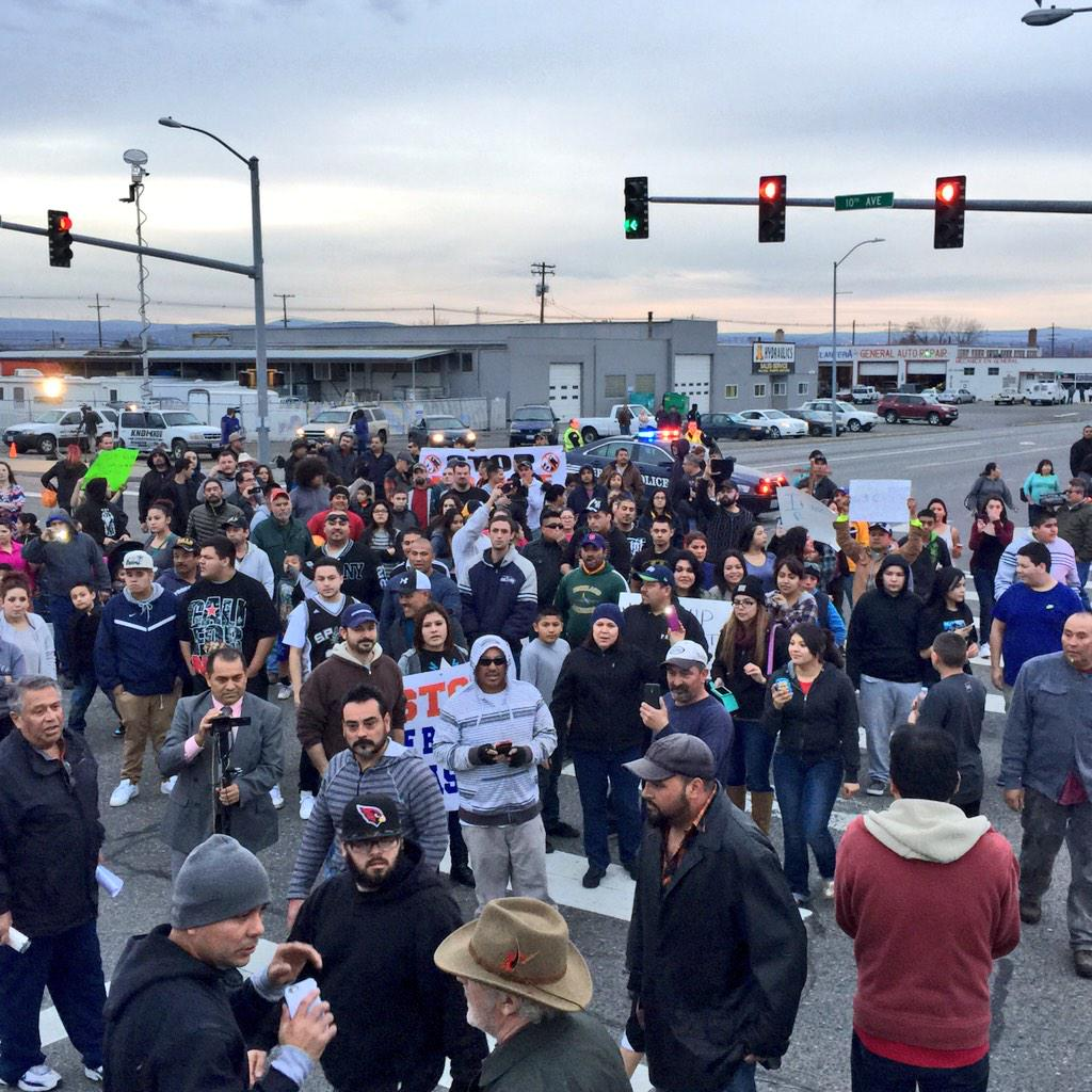 Photo from the protest in #Pasco against the fatal officer involved shooting http://t.co/LFA81eiiCo