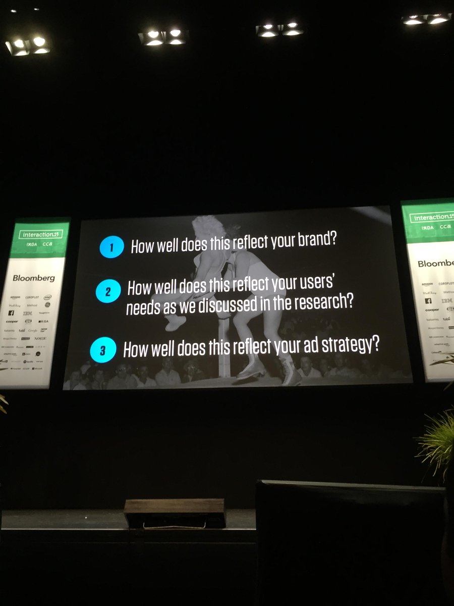 "DO NOT ask ""Do you like it?"" At the end of your design preso! The only 3 Questions you ~should ask: @monteiro #ixd15 http://t.co/xg2aowVnMj"