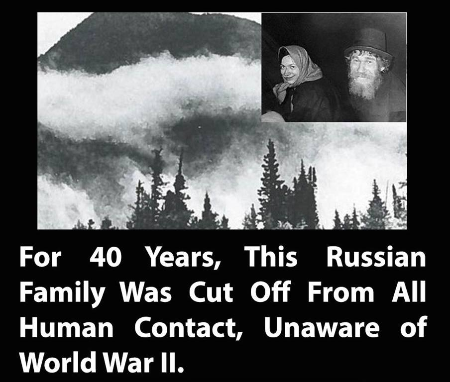In 1978, Soviet geologists prospecting in the wilds of Siberia discovered this family of six people. http://t.co/D5YBlUYJ8E
