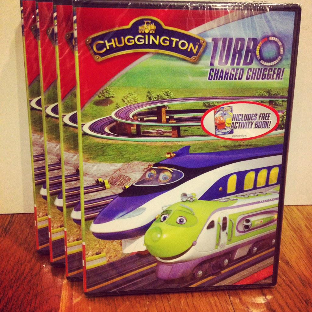 Giveaway alert: 5 new Turbo Charged Chugger DVDs up for grabs! Follow @Chuggington & RT for a chance to #win! http://t.co/PzCxkeR5rA