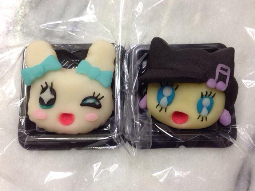 ちょうど今、店番しながらコレ観てますwラブリっち&メロディっち#たまごっち #和菓子で作ってみたZ