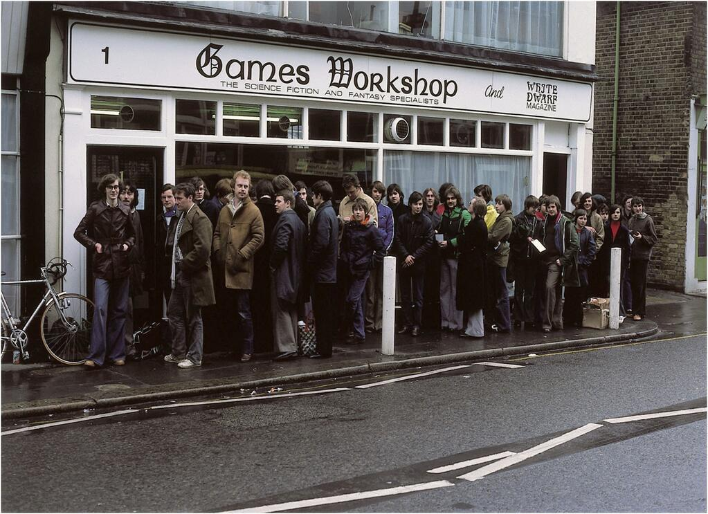 Sad to hear our 1st Games Workshop shop is to be demolished. This was opening day April 1978. Were you in the queue? http://t.co/F55fbhYu4l