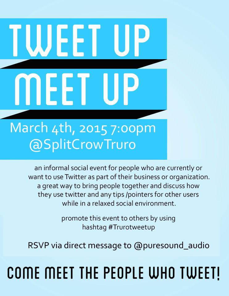 #Trurotweetup March 4th @SplitCrowTruro All welcome @4Jeffbrown will be speaking #Truro http://t.co/qpO9nqf871