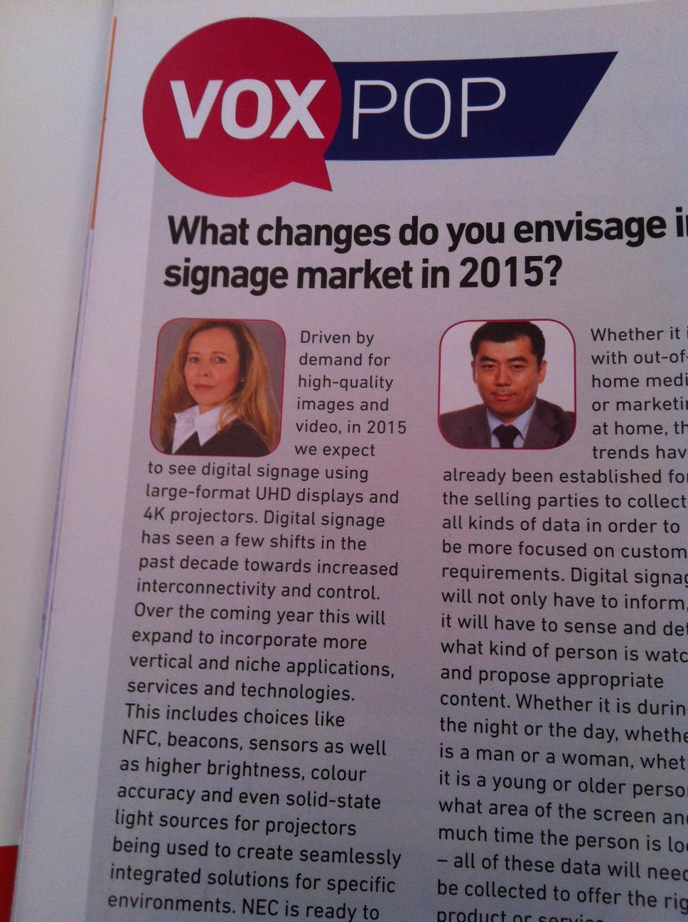NEC Display Solutions Europe's Stefanie Corinth on trends in the #digitalsignage market in 2015 #UHD #4K #ISE2015 http://t.co/NFTS1sBJz7