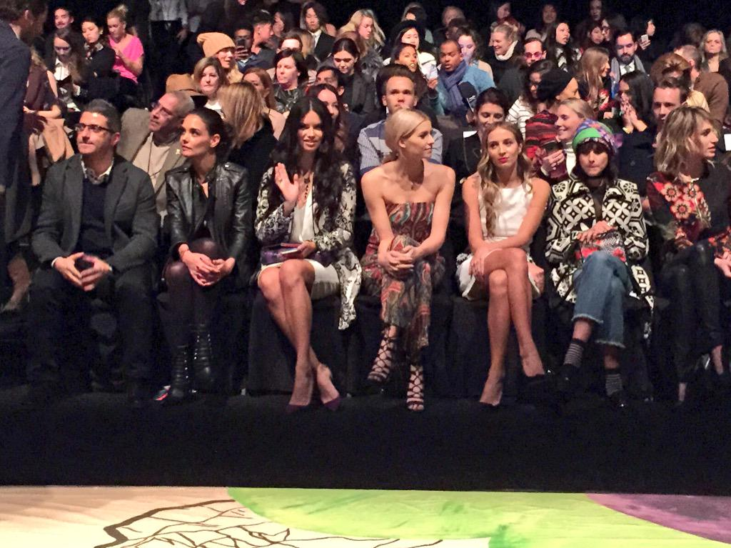 @AdrianaLima thanks for the wave & eye contact! Digging that outfit, but bummed you're not walking @desigual #NYFW http://t.co/op9cbEvAwK