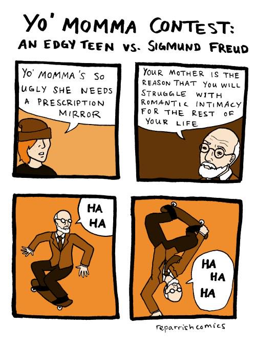 Don't trade mom jokes with Sigmund Freud (by @linguisttrick): http://t.co/QMe8OrYZai