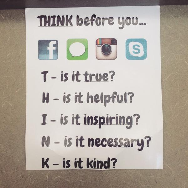 "MT: from @iamkidpresident ""More people should follow the advice."" #ThinkBeforeYouPost #SGICares http://t.co/ttOiAHalci"