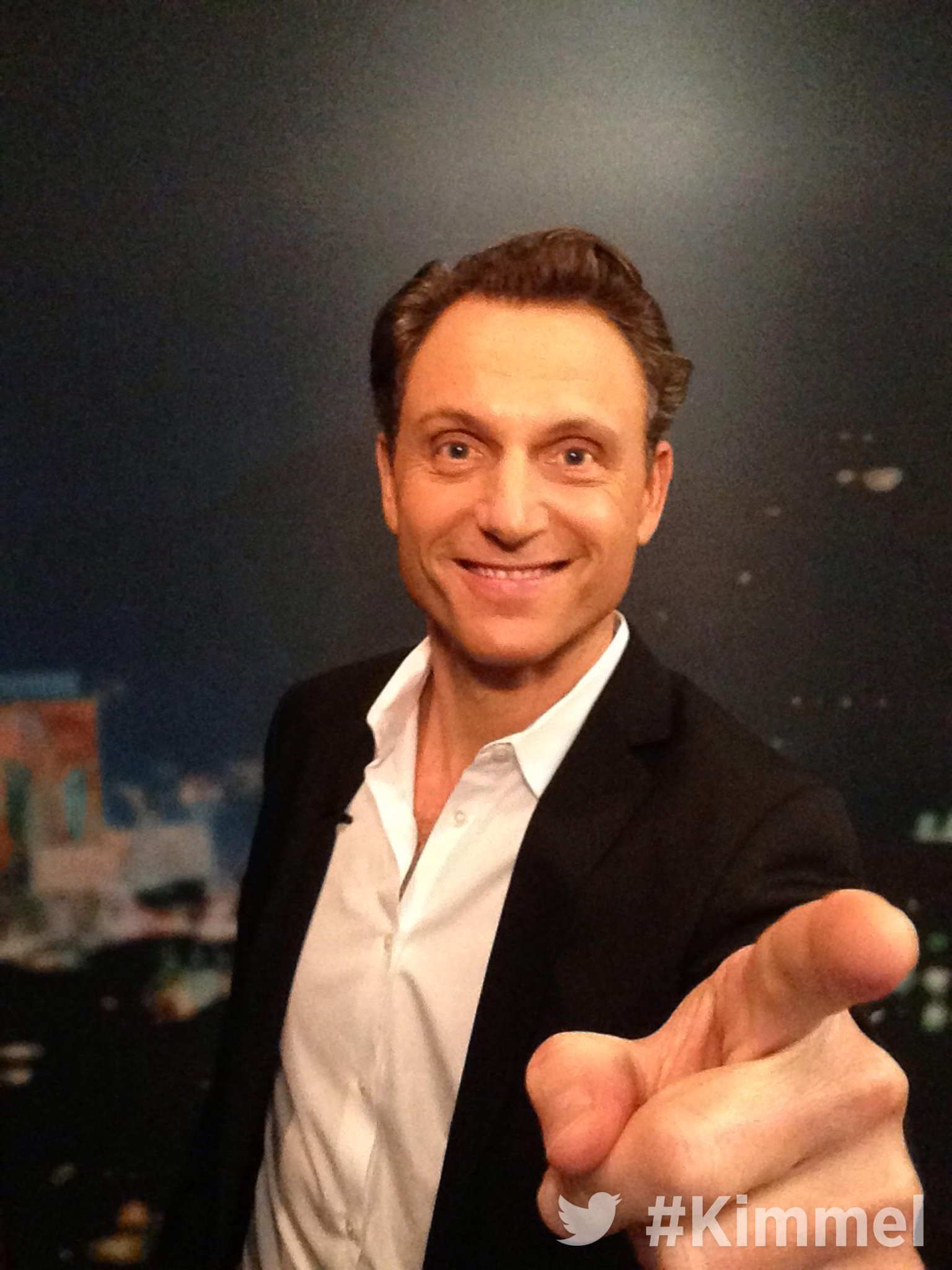 RT @JimmyKimmelLive: Backstage at #Kimmel. Tune in tonight at 11:35 10:35c on ABC with @TonyGoldwyn #Scandal #TGIT http://t.co/YBkQp0aC1L