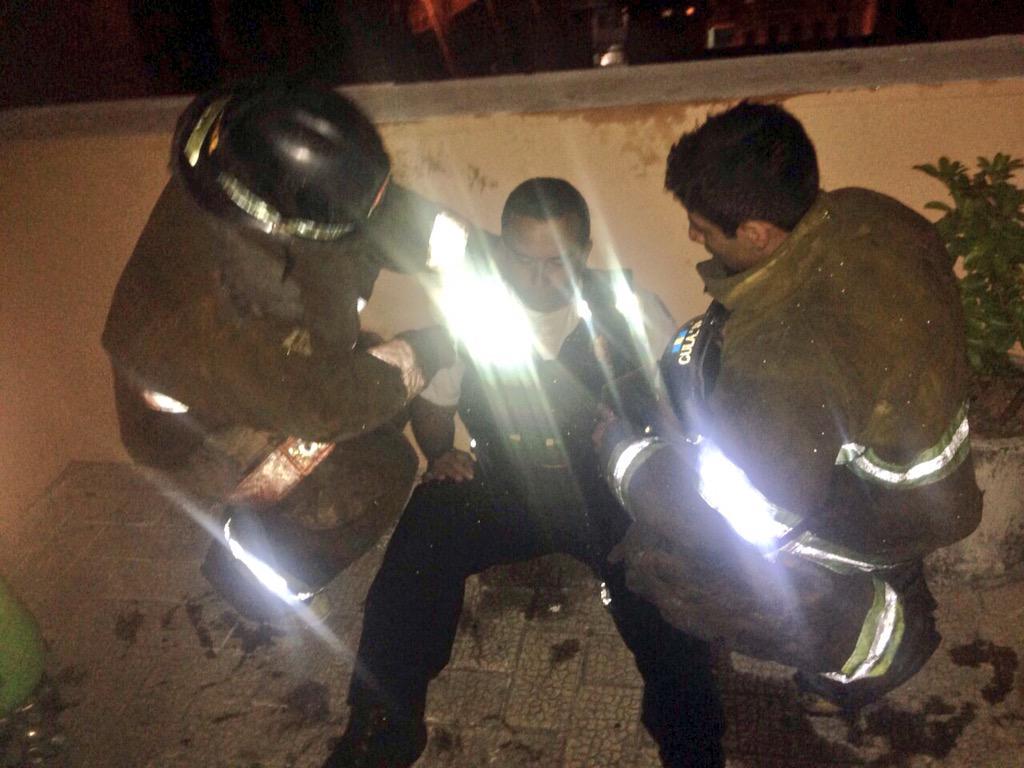 """Repudiamos la cobarde agresión de la que fueron víctimas elementos de @BVoluntarios por parte d policías municipales http://t.co/MeufObG6pp"""""""