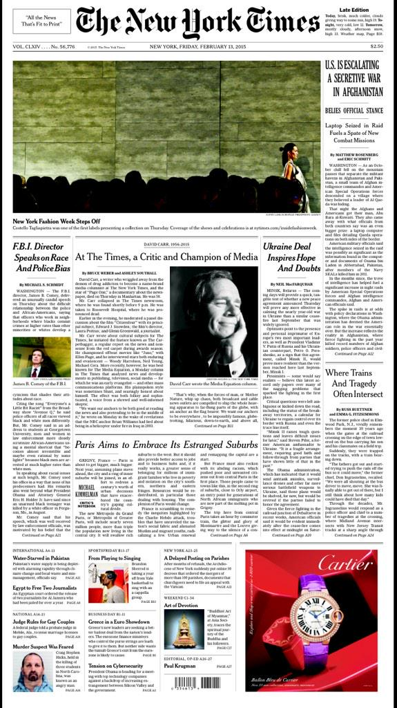 Front page of @nytimes tomorrow http://t.co/ZL7rMMd5ub