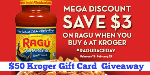 {can I get a retweet?}  $50 #Kroger Gift Card Giveaway!  ENTER/rules http://t.co/uTRYfpp2pM #ad  Prep 4 #RaguRaceDay http://t.co/oBrILPePo3
