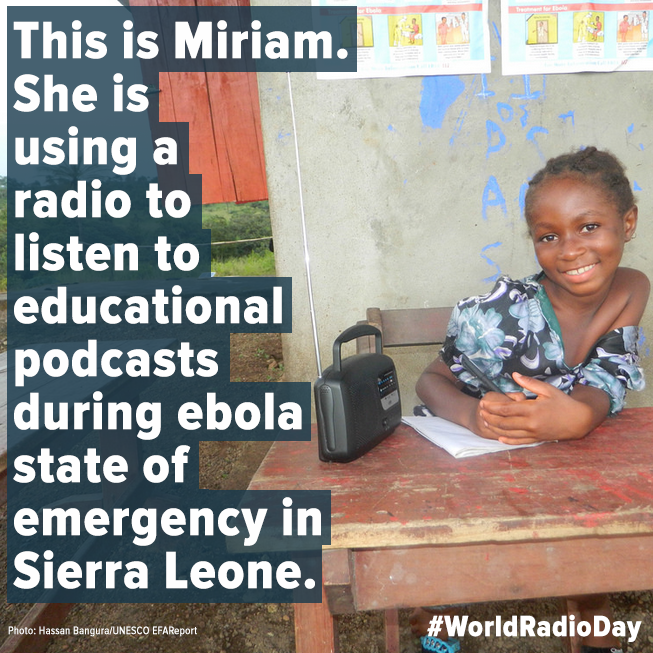 Today is #WorldRadioDay! Radio can support #education in conflict&emergency situations http://t.co/8zE4Qj6UPm @UNESCO http://t.co/Fx4VK0MVQo