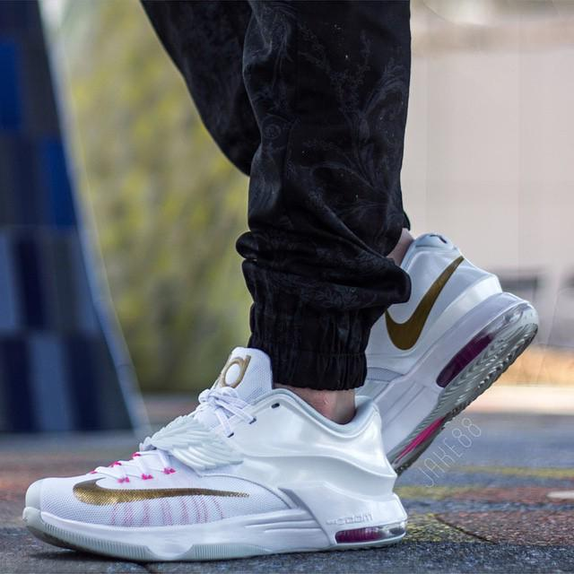 SneakerShouts   On foot look at the Nike KD 7  quot Aunt Pearl quot   Will these    Kd 7 On Foot