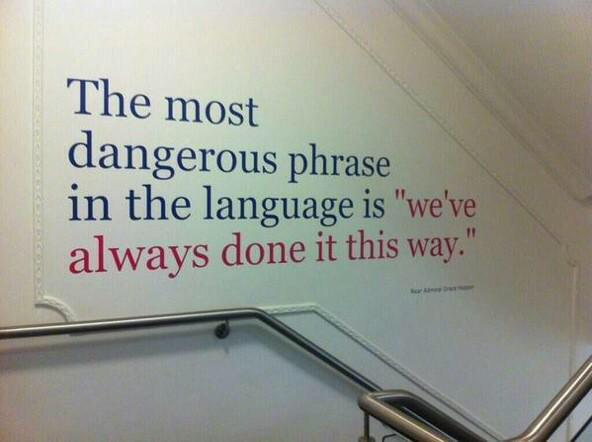 Certainly a dangerous phrase in healthcare provision, amazing how fast tech moves/how slow change happens #DNtech2015 http://t.co/W6NyW2Yqia