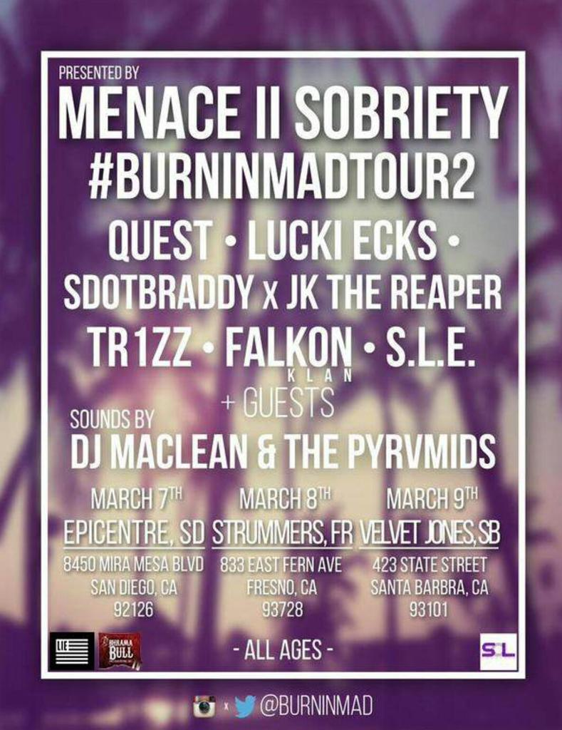 This tour is going to turn up @BurninMad #getwithit #BurninMadTour2 #California #march http://t.co/Yr1RxUUyS2