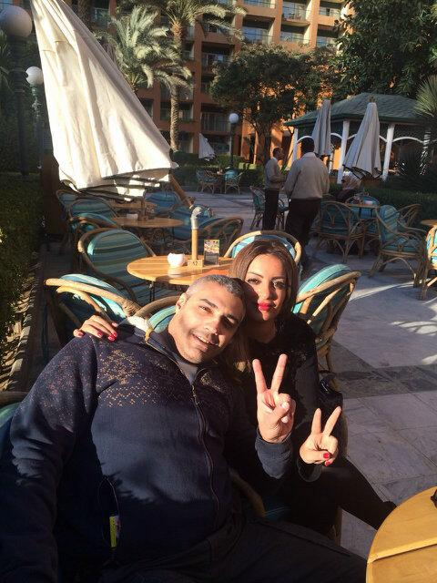 """Free Sunshine @CairoMarriott Where it all started with my better half Marwa Omara """" till death do us part"""" #Thankyou http://t.co/jd976zgdDK"""
