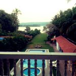 View from my room.. Home for the next 3 weeks.. #Goa