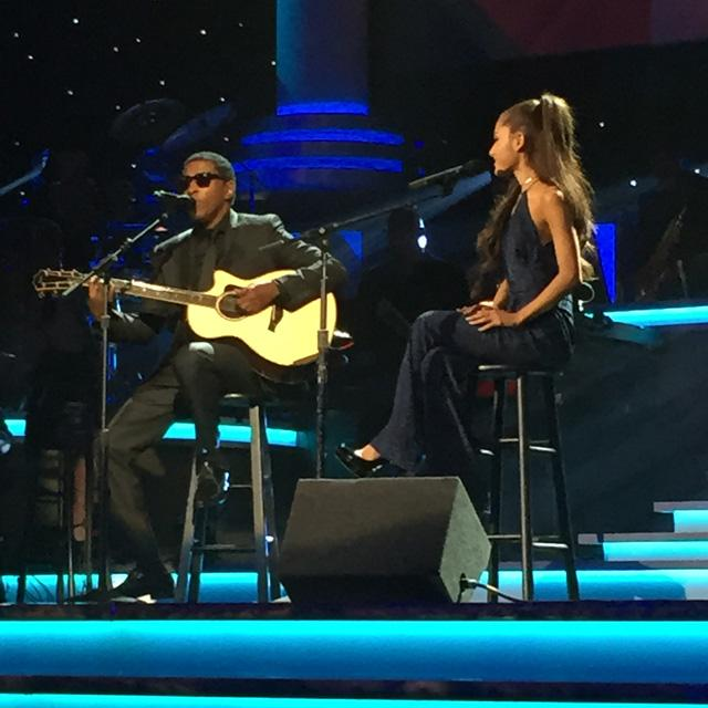Had a great time performing w/ @ArianaGrande at @theGRAMMYs #StevieWonder Tribute! Tune in 2/16 at 9pm on @CBS http://t.co/PlLiCVdx5u