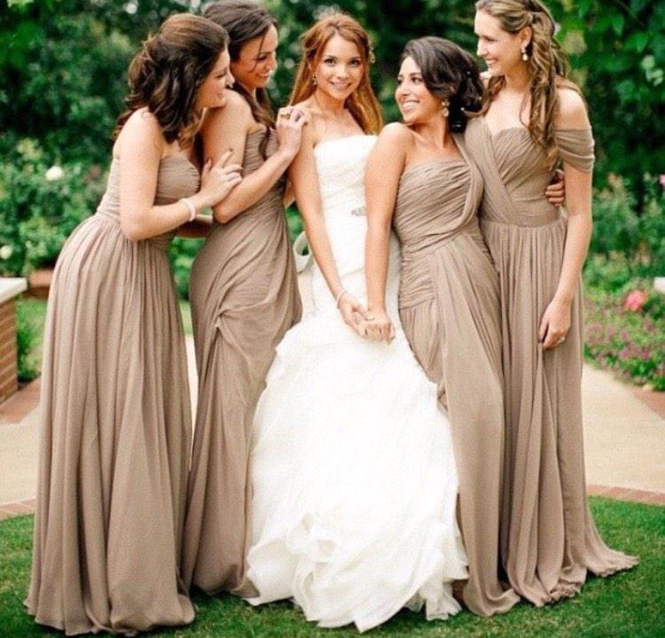 Neutrals are superb for a spring/summer wedding