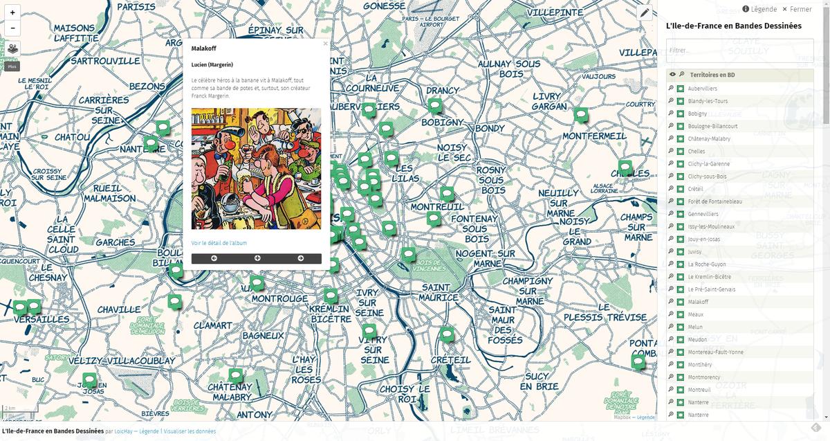Une carte #umap des bandes dessinées évoquant des territoires @iledefrance http://t.co/9S3ORZs1f5 #geoculture http://t.co/kXi0KhT6Ku
