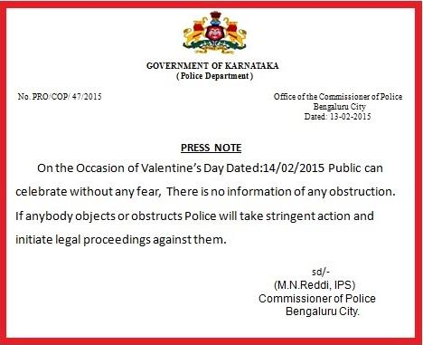 """This is how police should be! """"@BlrCityPolice: ***PRESS NOTE***     @CPBlr http://t.co/QWP1ytuL3R"""""""