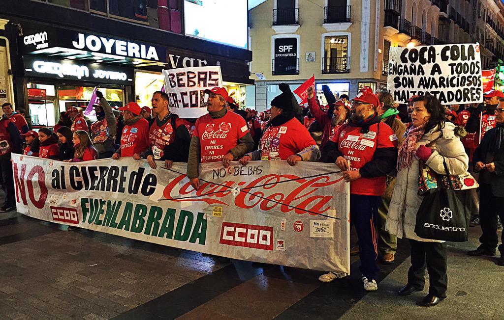 """Por Callao, """"No al cierre de @CocaCola Fuenlabrada"""" http://t.co/gekhAKuNZ9"""