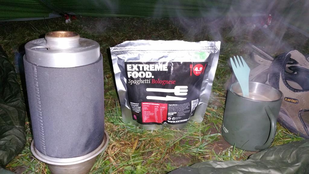 Spaghetti Bolognese from @extreme_foods and coffee for supper on the @SouthYorksWay #shareyouradventure #hike2015 http://t.co/l8ocZ1GYKZ