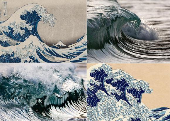 """ホントだ!>""""@karapaia: 【RT1800UP】 葛飾北斎が描いた波は、ハイスピードカメラでとらえた波と酷似していた。 http://t.co/9bdwABBxTm http://t.co/5oAmgo2VEl"""""""