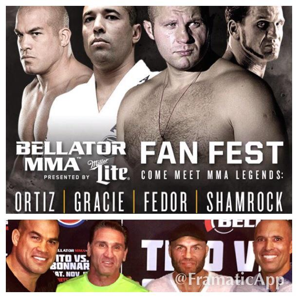 @titoortiz  BELLATOR MMA FAN FEST coming up FEBRUARY 26th in Connecticut / and the previous FAN FEST LEGEND PHOTO  ~ http://t.co/a2OKZizW5O