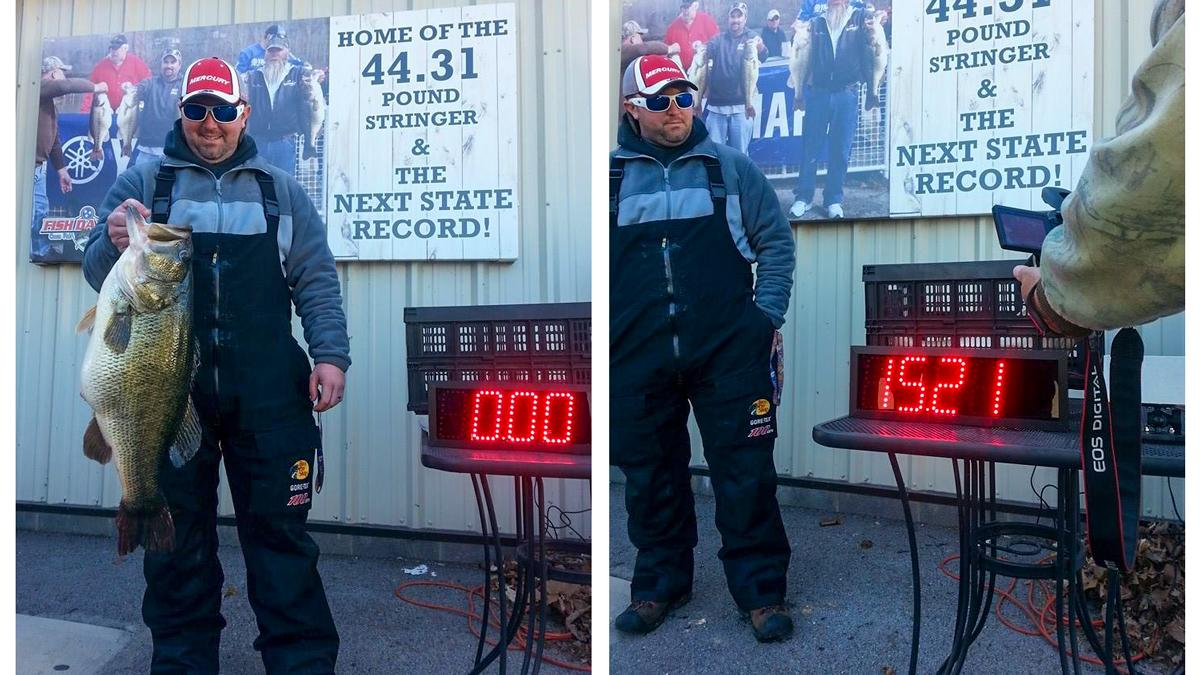 What a bass! See the story of what will likely be the new TN state record bass here: http://t.co/XQX8WSLcpI http://t.co/ExvzriWr5D