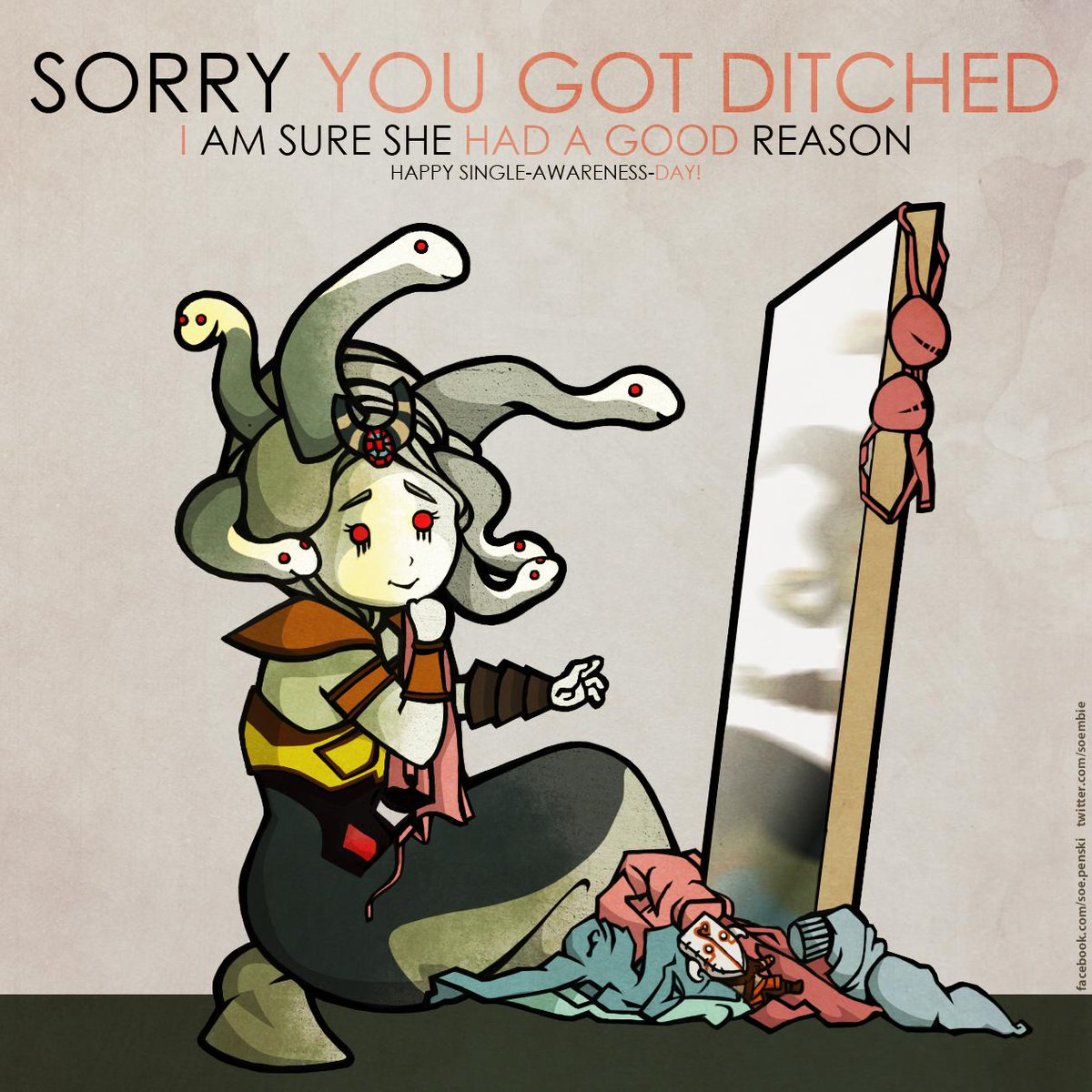 Happy Valentines/Single-Awareness-Day everyone! I made a card for the occasion. #Rubbingitin #dota2 #sorrybro http://t.co/nElC2y5c4M