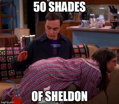 Breve nos cinemas: 50 Shades of Sheldon http://t.co/1Usak86OnC