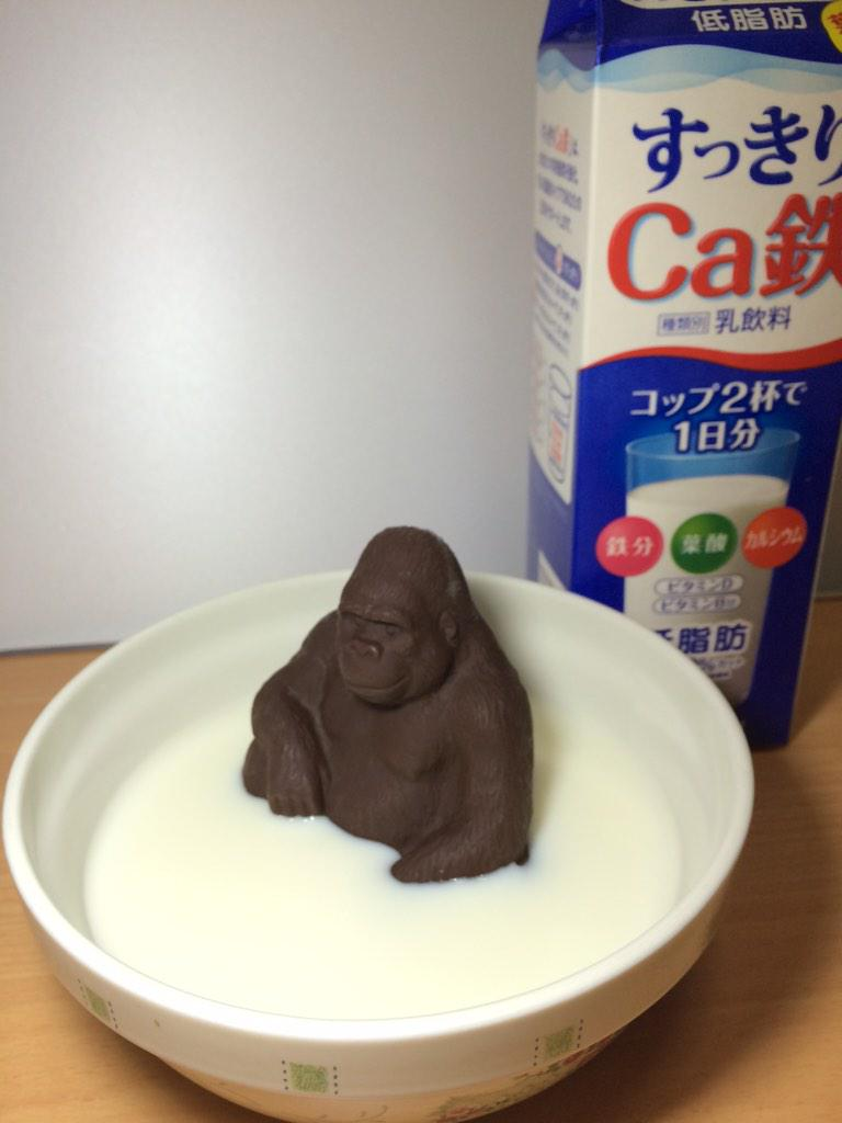 (つづき)  とりあえず牛乳に入れてみたよ( ´ ▽ ` )ノ http://t.co/7GAtLN5KmA