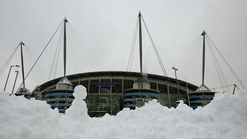 Image result for etihad stadium snow
