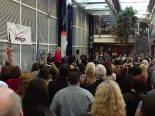 Oklahoma Gov. Mary Fallin at Verizon jobs announcement