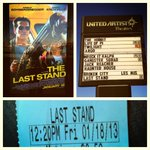 RT @PhuckinTom: FINALLY the most bad ass action star of all time is back @Schwarzenegger #TheLastStand 10/10 review