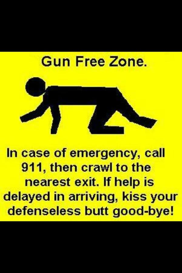 Chris (@CRRCDriver): Gun Free Zone........ http://t.co/BFznaMna