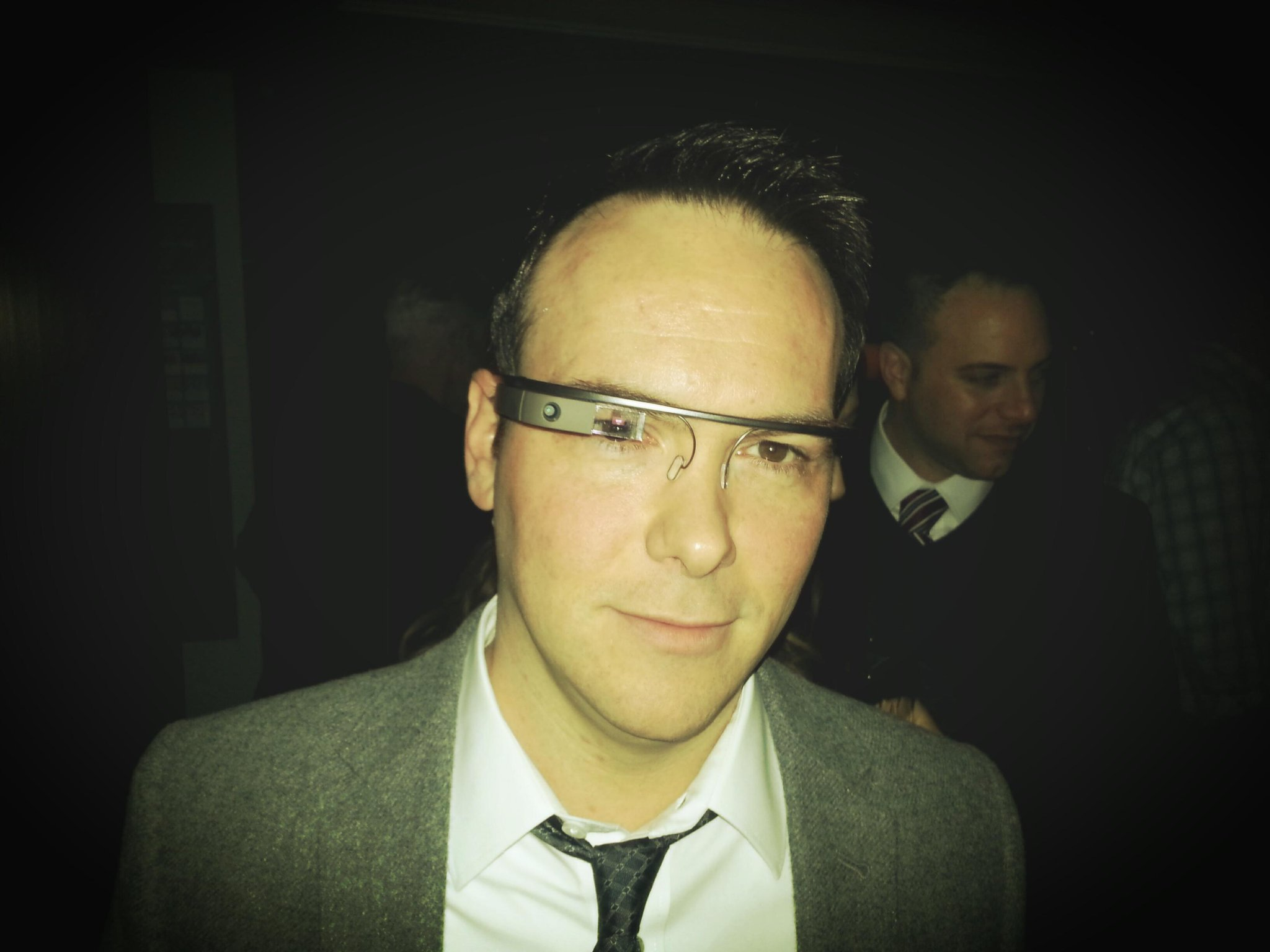 """@DanaBrunetti: Wearing Google Glass at the CAA pre-Golden Globes party. Pretty awesome. http://t.co/yg3j35YI""  What the heck are they?"