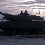 RT @SportsnetJamie: @jparencibia9 riding a tank at CFB Edmonton. @BlueJays @Sportsnet