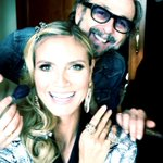 RT @heidiklum: Getting glammed up for an amazing evening at the @GoldenGlobes! #GoldenGlobes