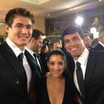 #GoldMeetsGolden RT @RickyBerens Just walked the red carpet at #GoldenGlobes! That was insane! Whole different world!